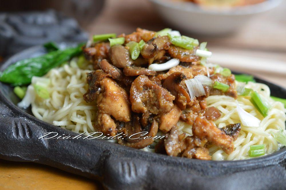 Mie Ayam Jamur Hot Plate Resep Makanan Makanan Resep Masakan