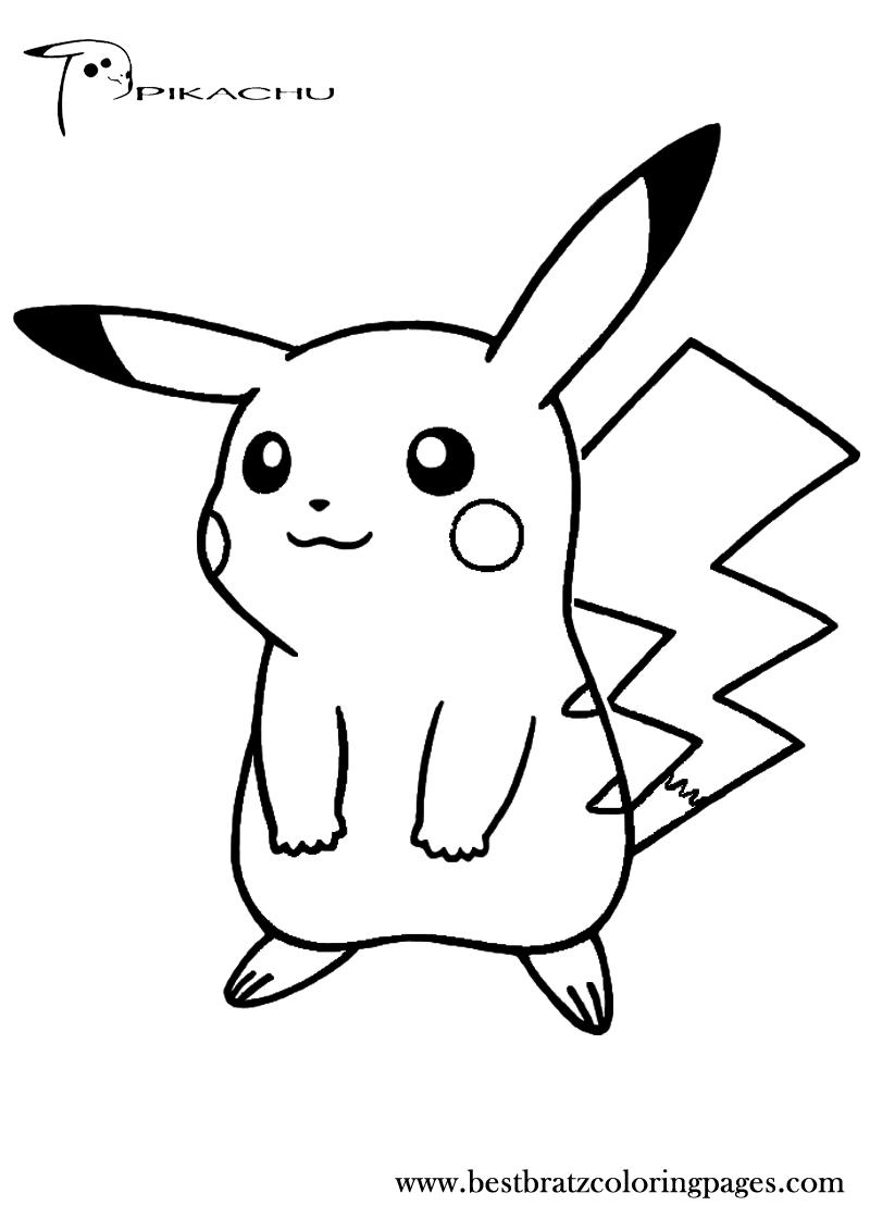 Coloriages de dessins animés - Pikachu Coloriage pikachu