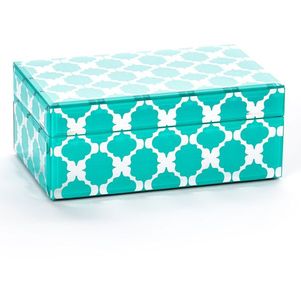 Turquoise Home Decor Accessories jt rose turquoise moroccan medium jewelry box (17 cad) ❤ liked on
