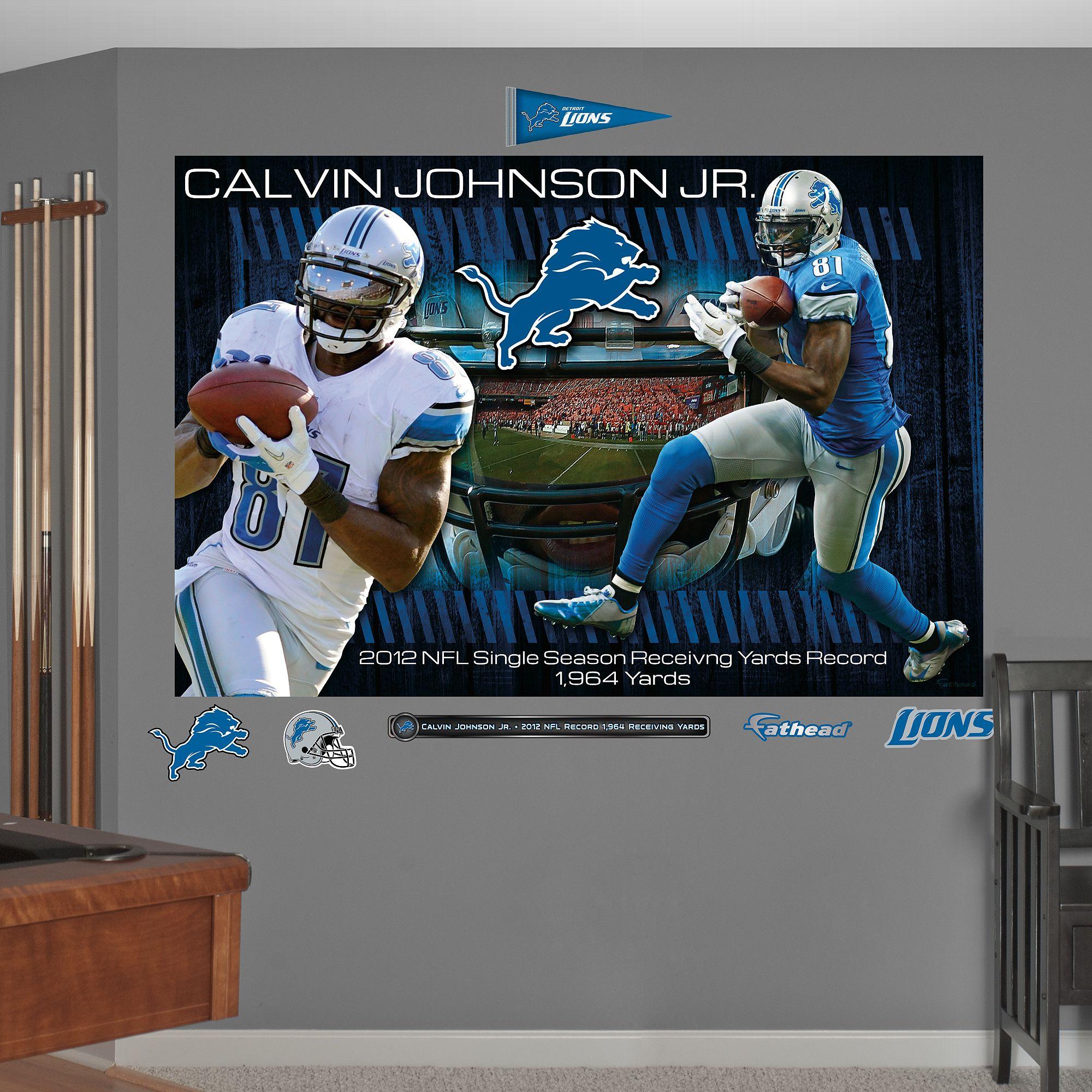 Calvin johnson jr 2012 receiving yards record mural
