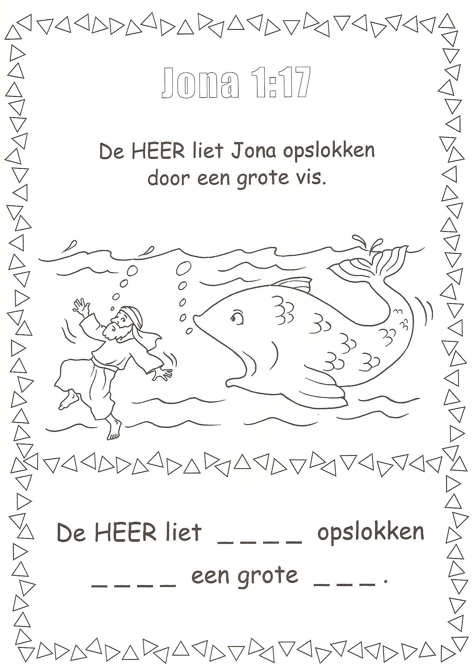 Jona 1 17 In De Vis Bijbel Grote Vis De Bijbel