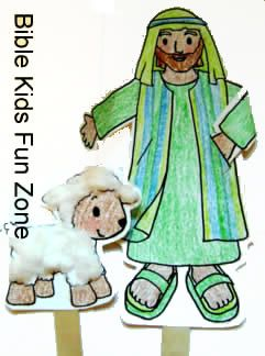 Moses The Shepherd Puppet Craft Christian Crafts 4 5