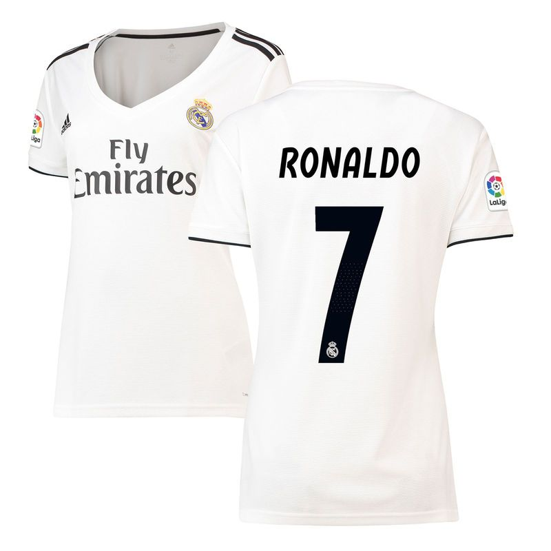 433521318b7187 Cristiano Ronaldo Real Madrid adidas Women s 2018 19 Home Replica Player  Jersey – White