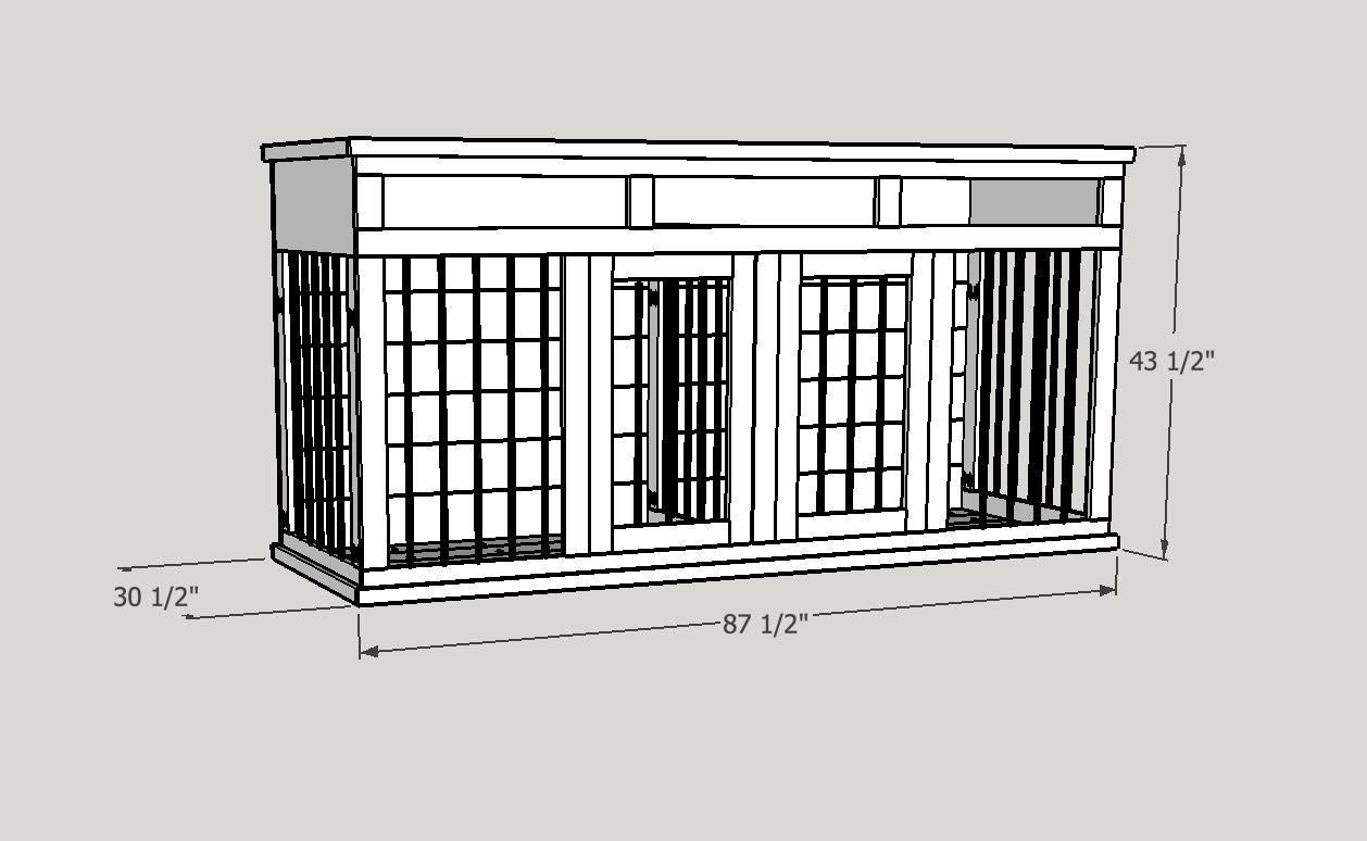 Dimensions Of Xl Dog Kennel Entertainment Center Dogcratexl Diy