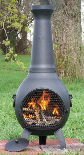 The Blue Rooster Cast Iron Prairie Chiminea The Blue Rooster Http Www Amazon Com Dp B009rt13ag Ref Cm Sw R Pi Dp O1 Cool Fire Pits Chiminea Outdoor Fireplace