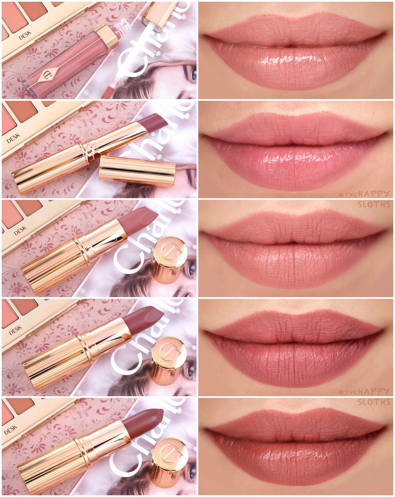 Charlotte Tilbury New Pillow Talk Collection Review And Swatches Part Ii Pillow Talk Lipstick Intense Lipstick Makeup Reviews