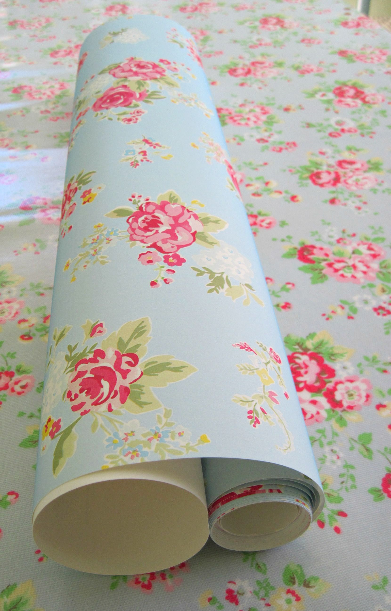 Would love this cath kidston wallpaper in my room it for Cath kidston style bedroom ideas