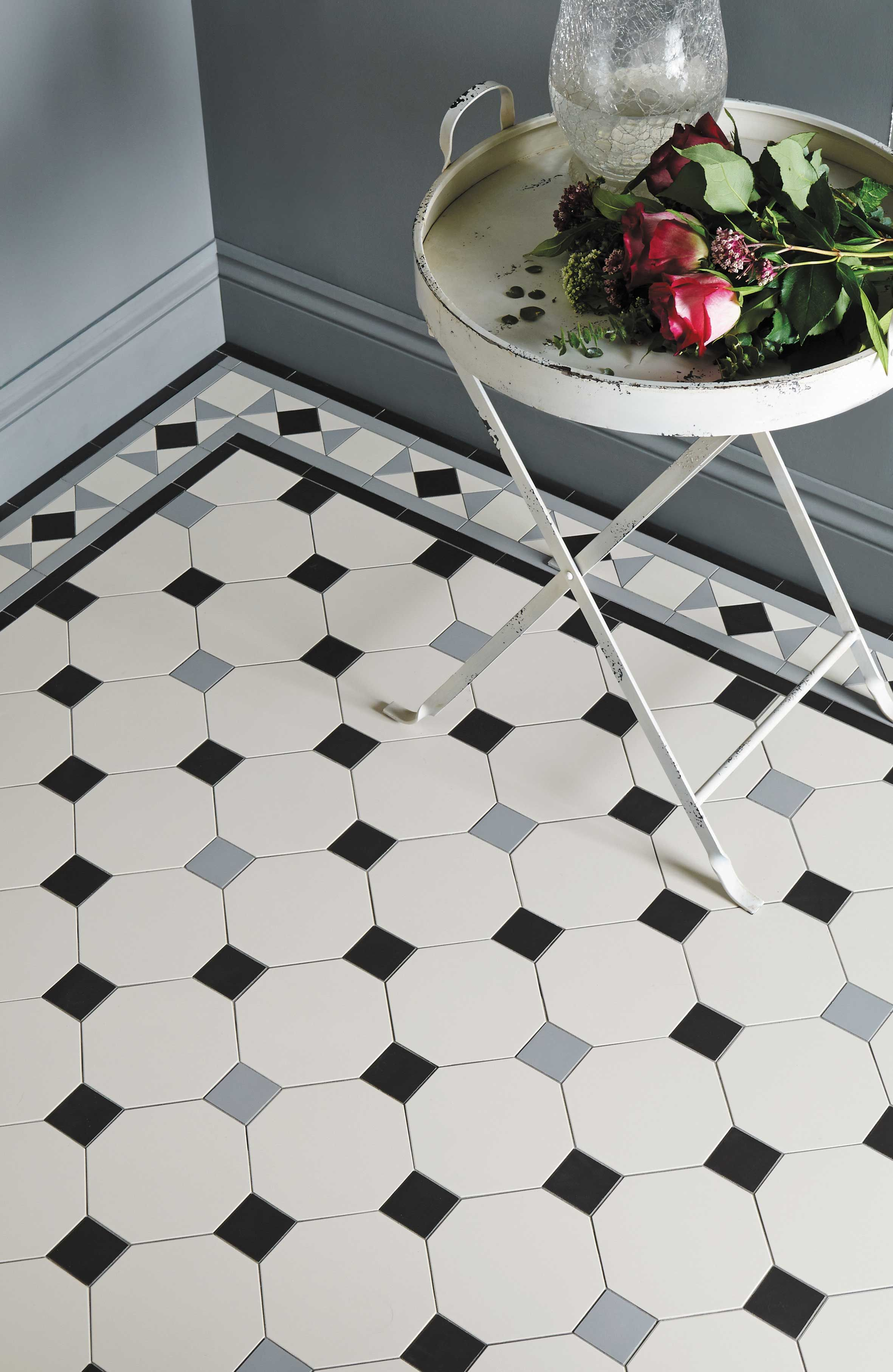 Victorian floor tiles by original style conrad border with victorian floor tiles by original style conrad border with nottingham pattern dailygadgetfo Images