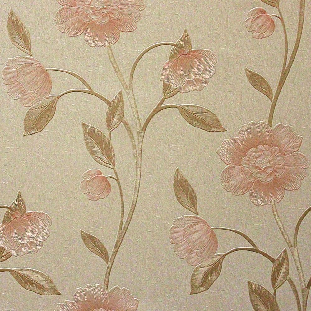Arthouse Avellino Floral Peach Wallpaper 263002 22 WILKO