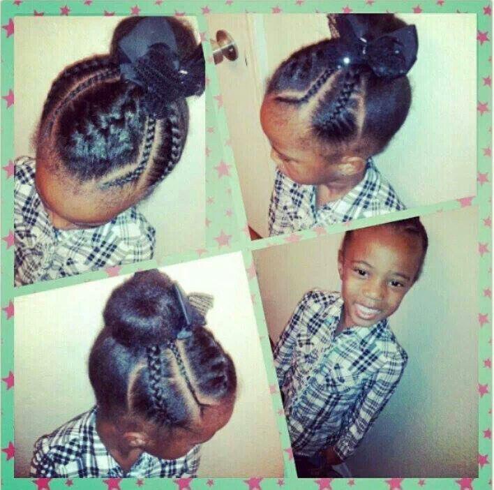 Cute Kids Bun Hair Pinterest Hair Style Kid Hairstyles And