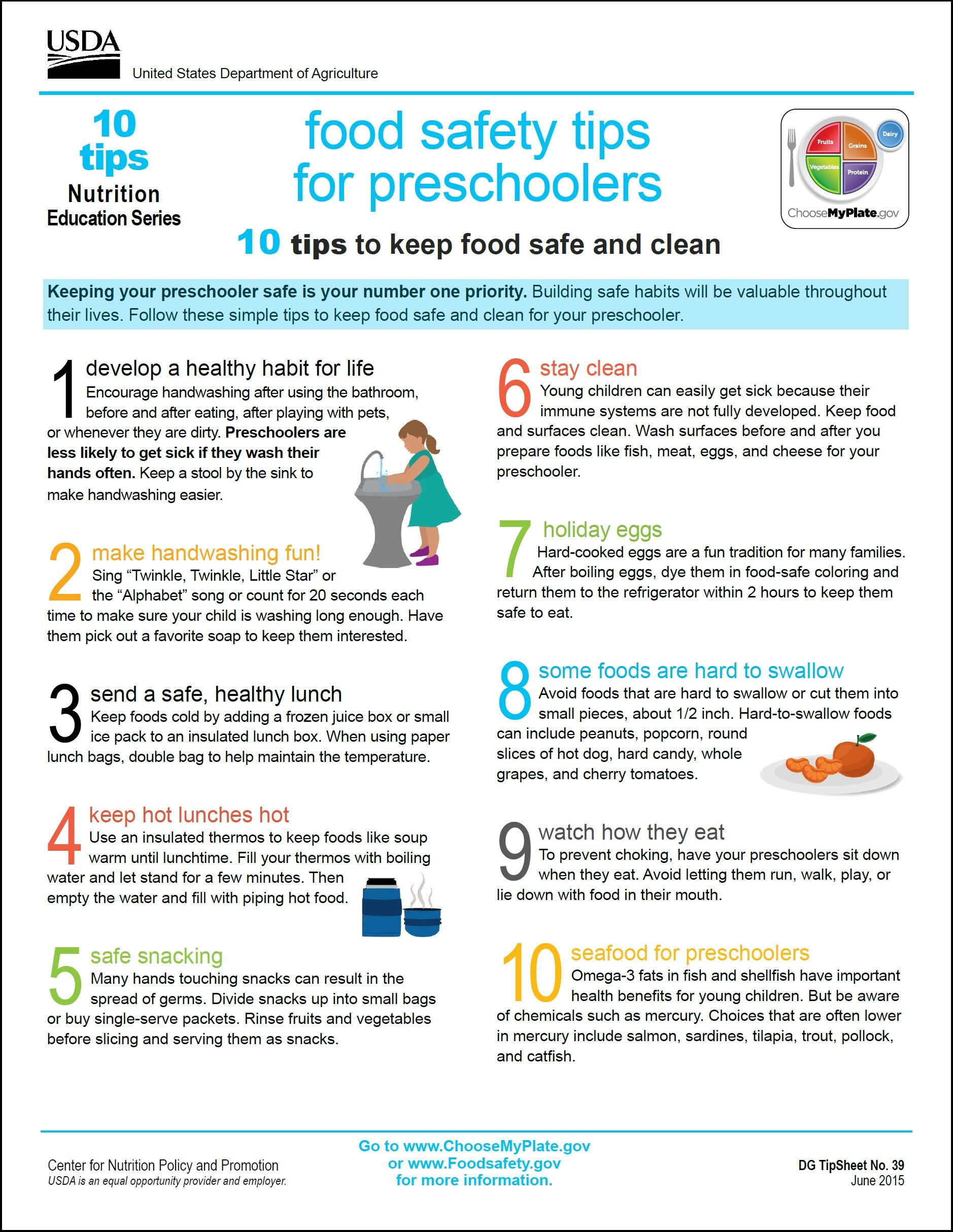 10 Tips Nutrition Education Series Http Www Choosemyplate Gov Ten Tips Food Safety Tips Kids Nutrition Food Safety