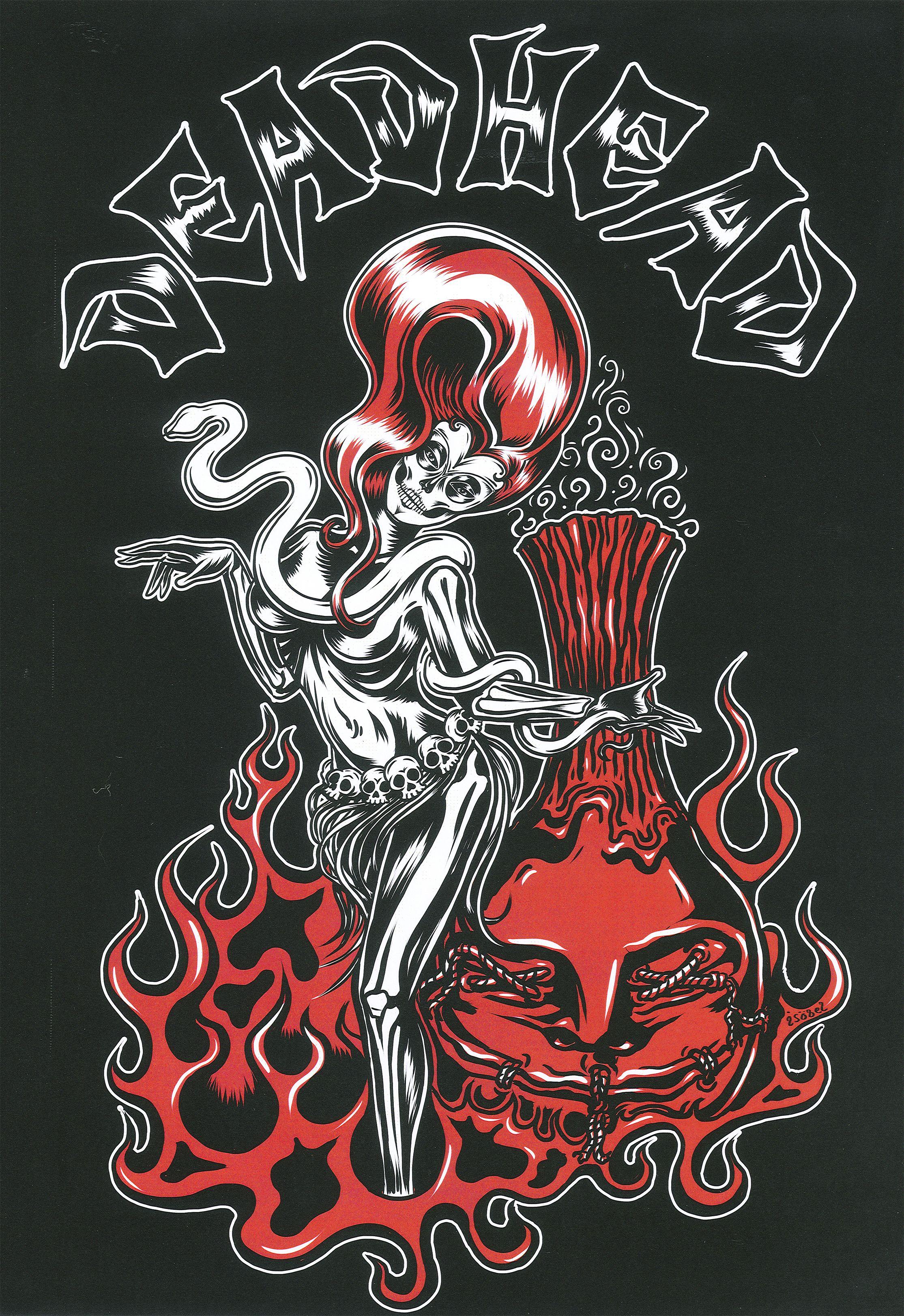 Deadhead rum art by renee osborne romance art tiki art art