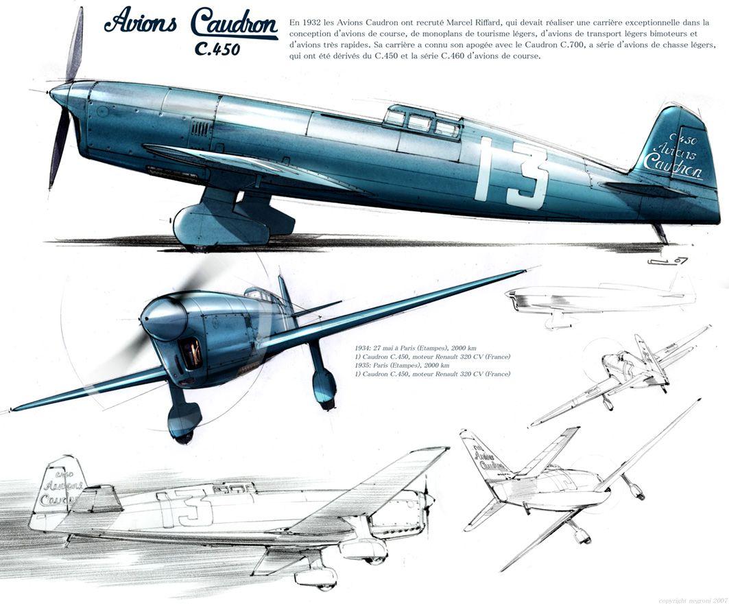 Avions Caudron C450 Avion De Chasse Rafale Avion Militaire