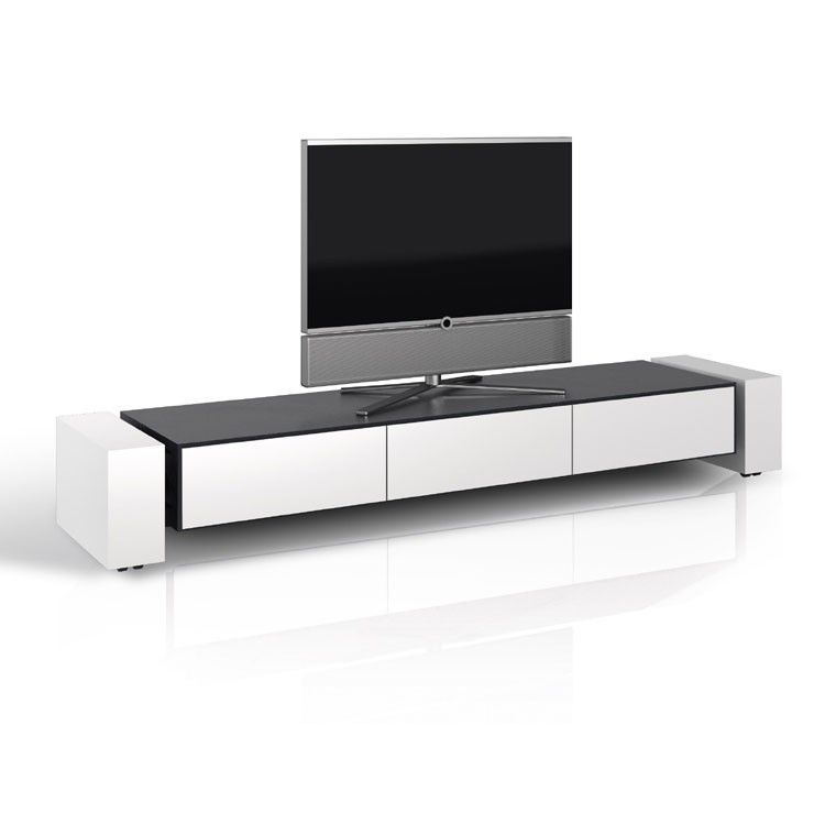 schnepel x line lowboard 1900 closed tv stand can change black to white. Black Bedroom Furniture Sets. Home Design Ideas