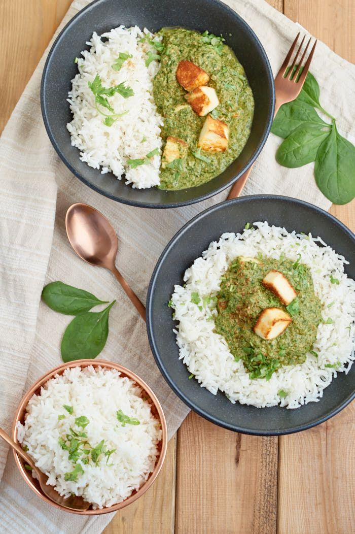 palak paneer indisches curry mit spinat und paneer. Black Bedroom Furniture Sets. Home Design Ideas