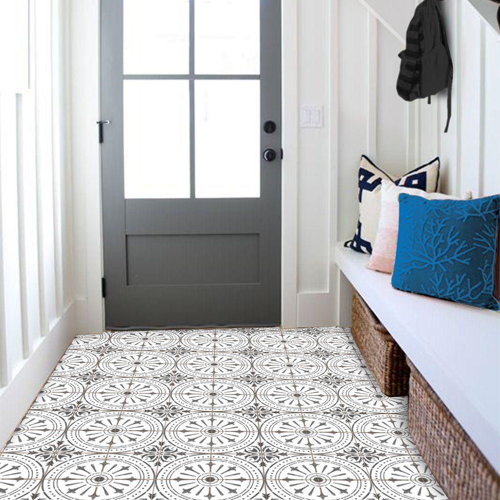 Chiave in Grey Vinyl Tile Sticker Floor decal, Floor