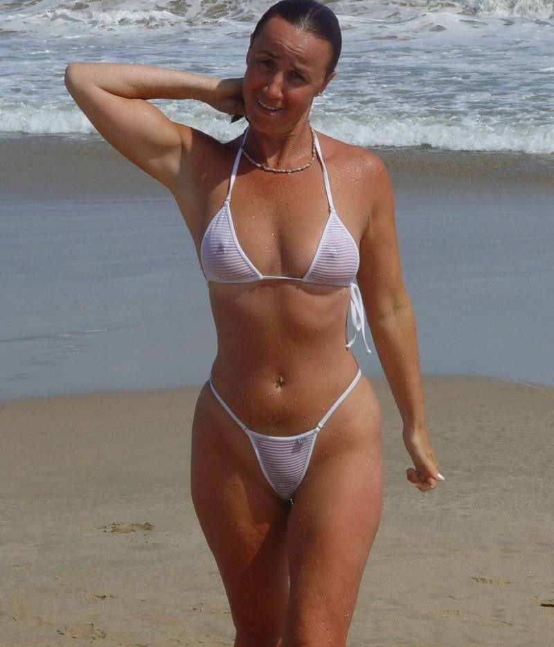 Sheer bikini amatures