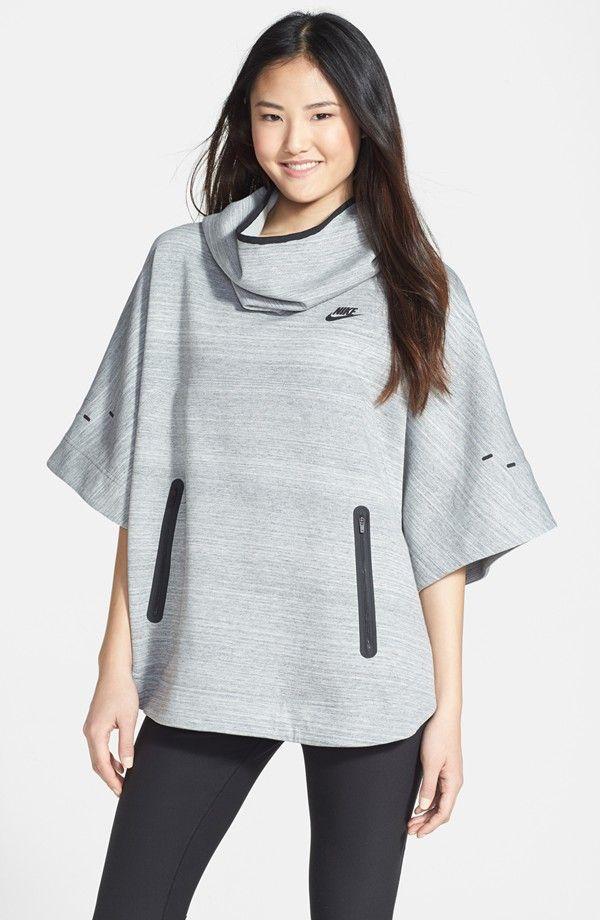 Nike \'Tech\' Fleece Hooded Poncho | Nike sweats | Pinterest | Poncho ...