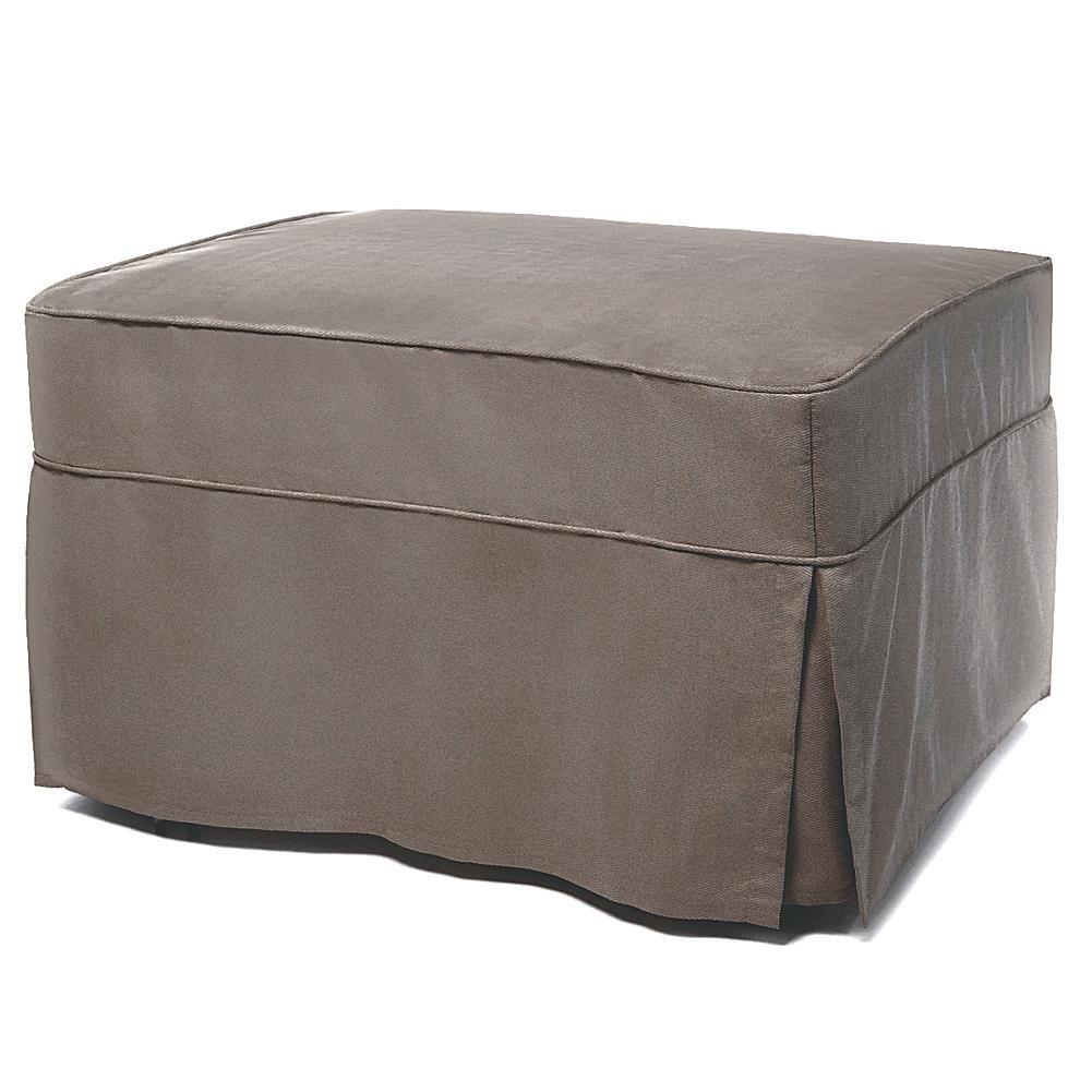 Castro Convertibles Castro Convertible Ottoman Bed With Single Mattress And  Slip Cover   Gray