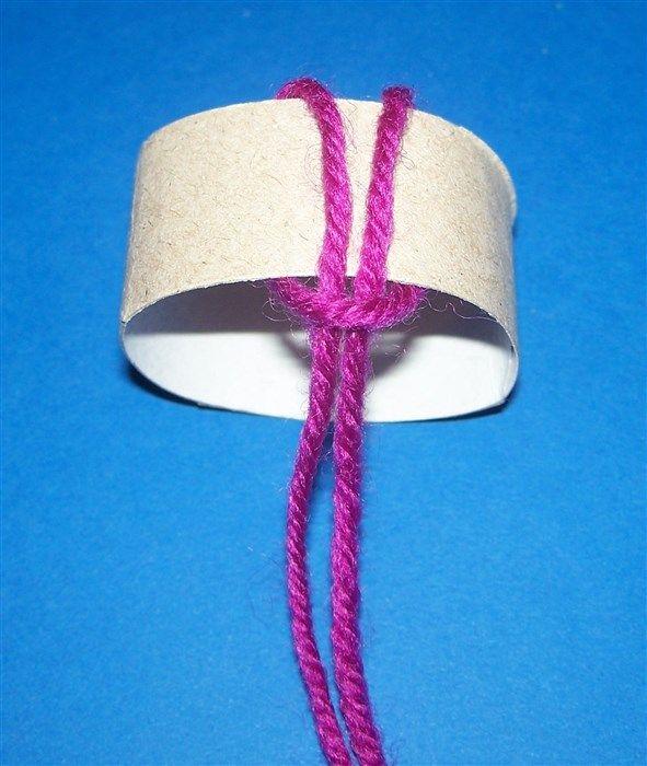 Pudelmütze Aus Wolle Und Toilettenpapierrolle Hobby Bastelraum