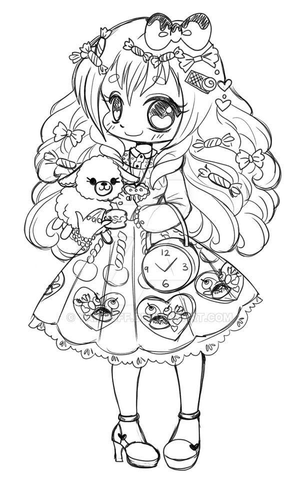 Lolita jewelery by yampuff coloriage manga pinterest coloriage manga dessin coloriage et - Coloriage manga livre ...