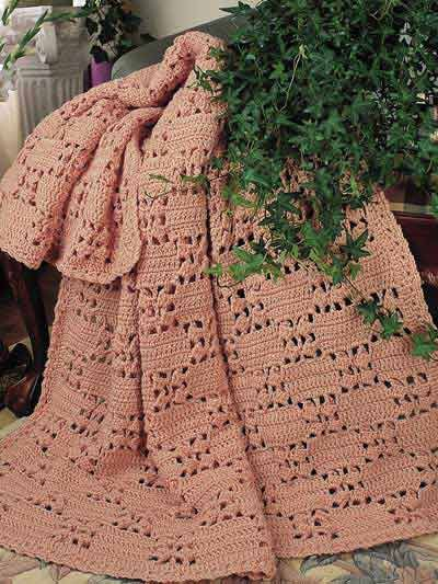 Checkerboard Lace Crochet Afghan Pattern Crochetafghans Throws
