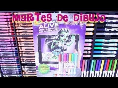 COLORING WITH CRAYOLA MARKERS CLEO DE NILE MONSTER HIGH ...