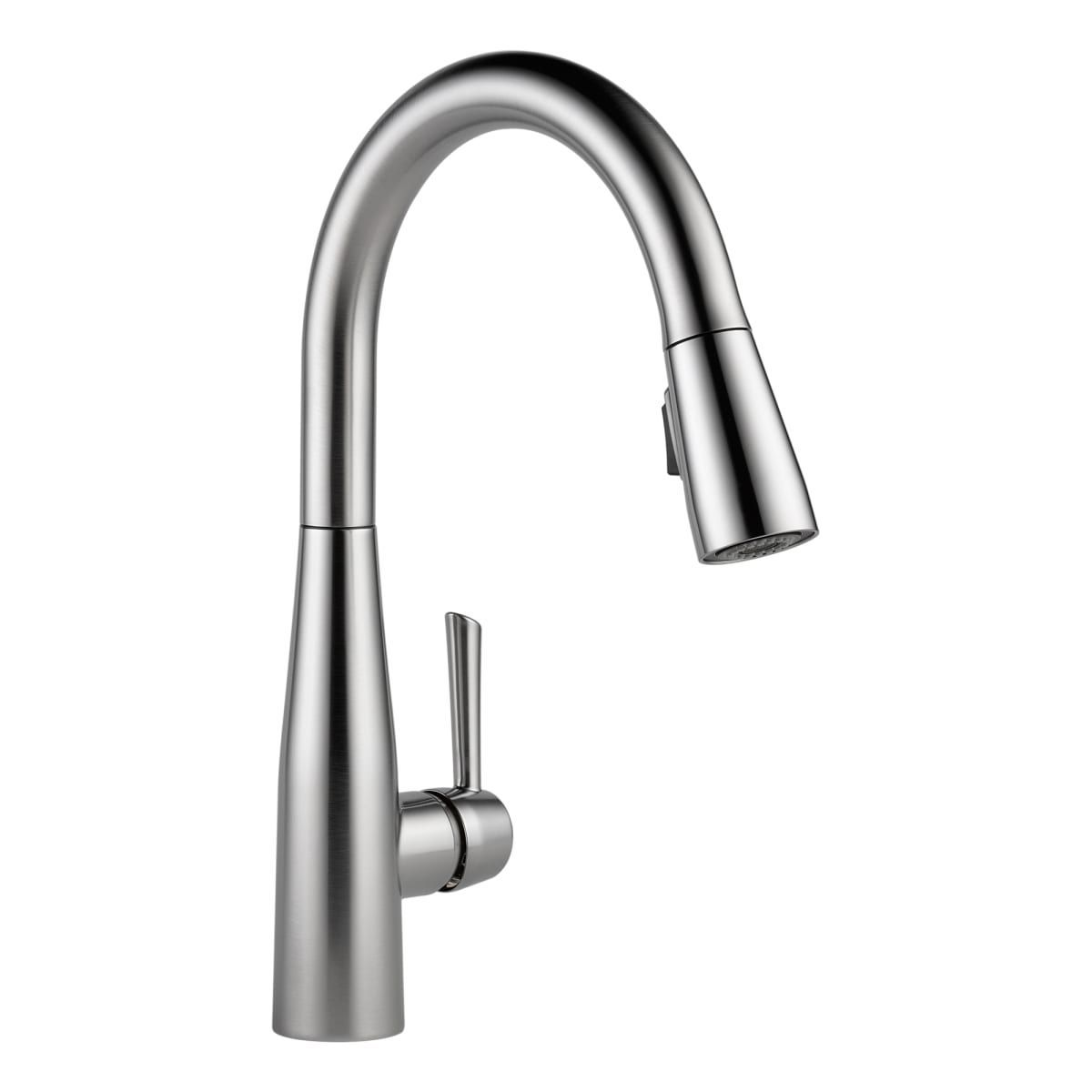 Delta 9113 Ar Dst Arctic Stainless Essa Pull Down Kitchen Faucet