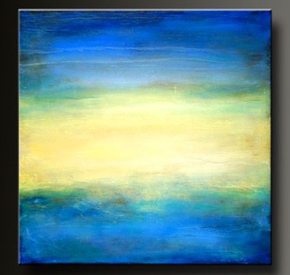 Ocean Breeze - 20 x 20 - Acrylic Abstract Painting - Contemporary ...
