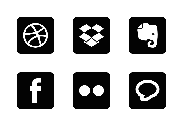Social Round Corner Glyph Free Icons By Ibrandify Free Icons Social Media Icons Round Corner