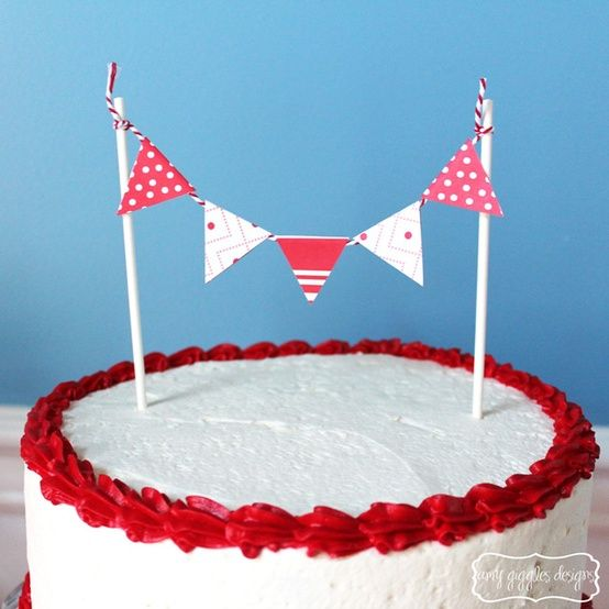 red and white birthday cake or christmas Party Ideas Pinterest