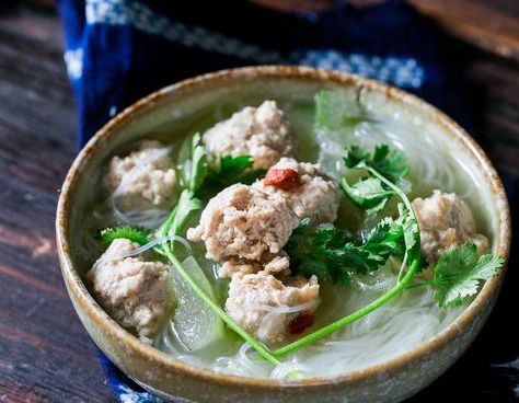 Winter Melon Soup (Dong Gua Soup) with Meatballs - Step By Step
