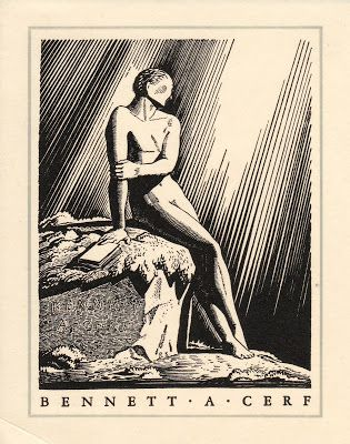 The Bennett A. Cerf  bookplate was designed by Rockwell Kent.