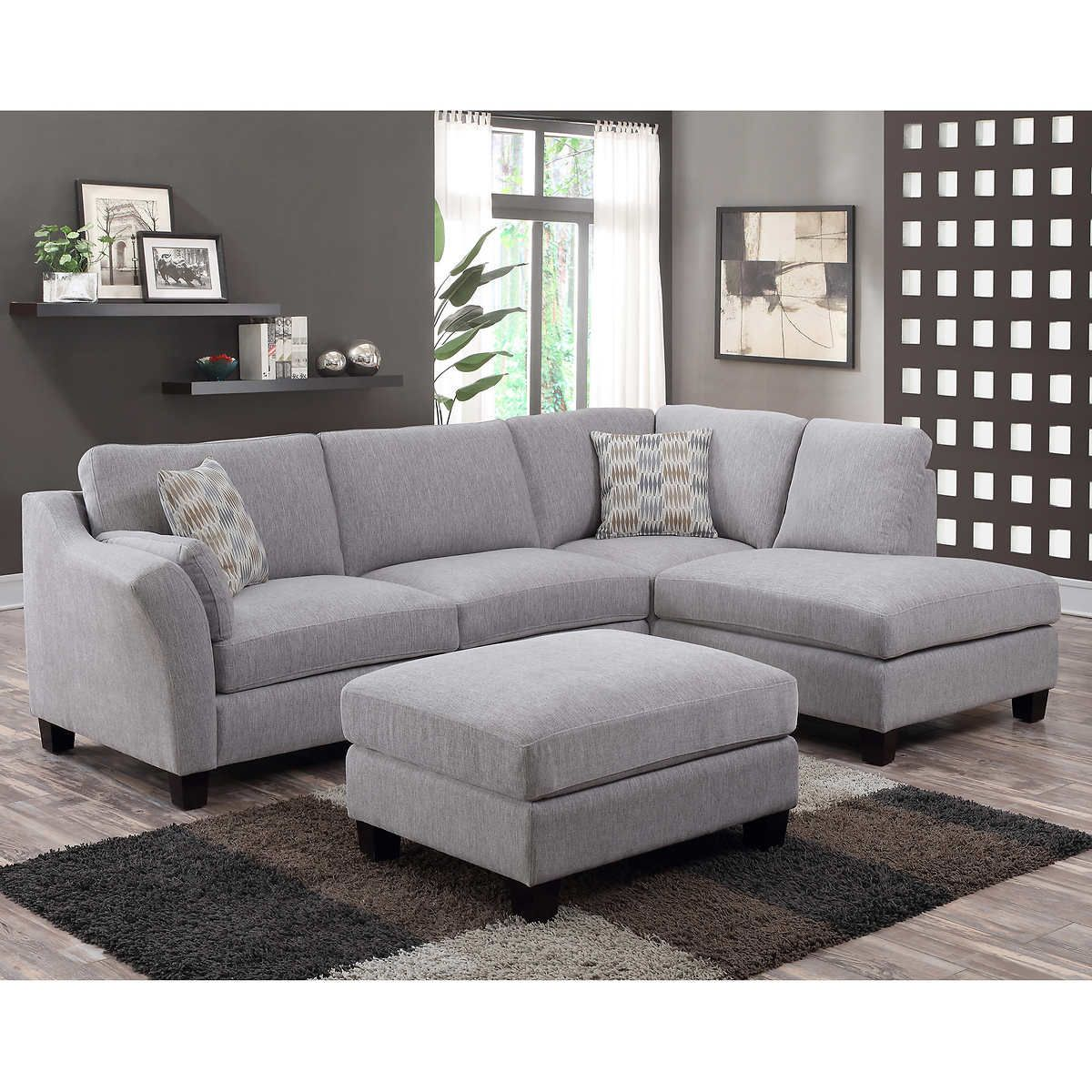 Fabulous Kimsey 2 Piece Fabric Sectional With Ottoman In 2019 Machost Co Dining Chair Design Ideas Machostcouk