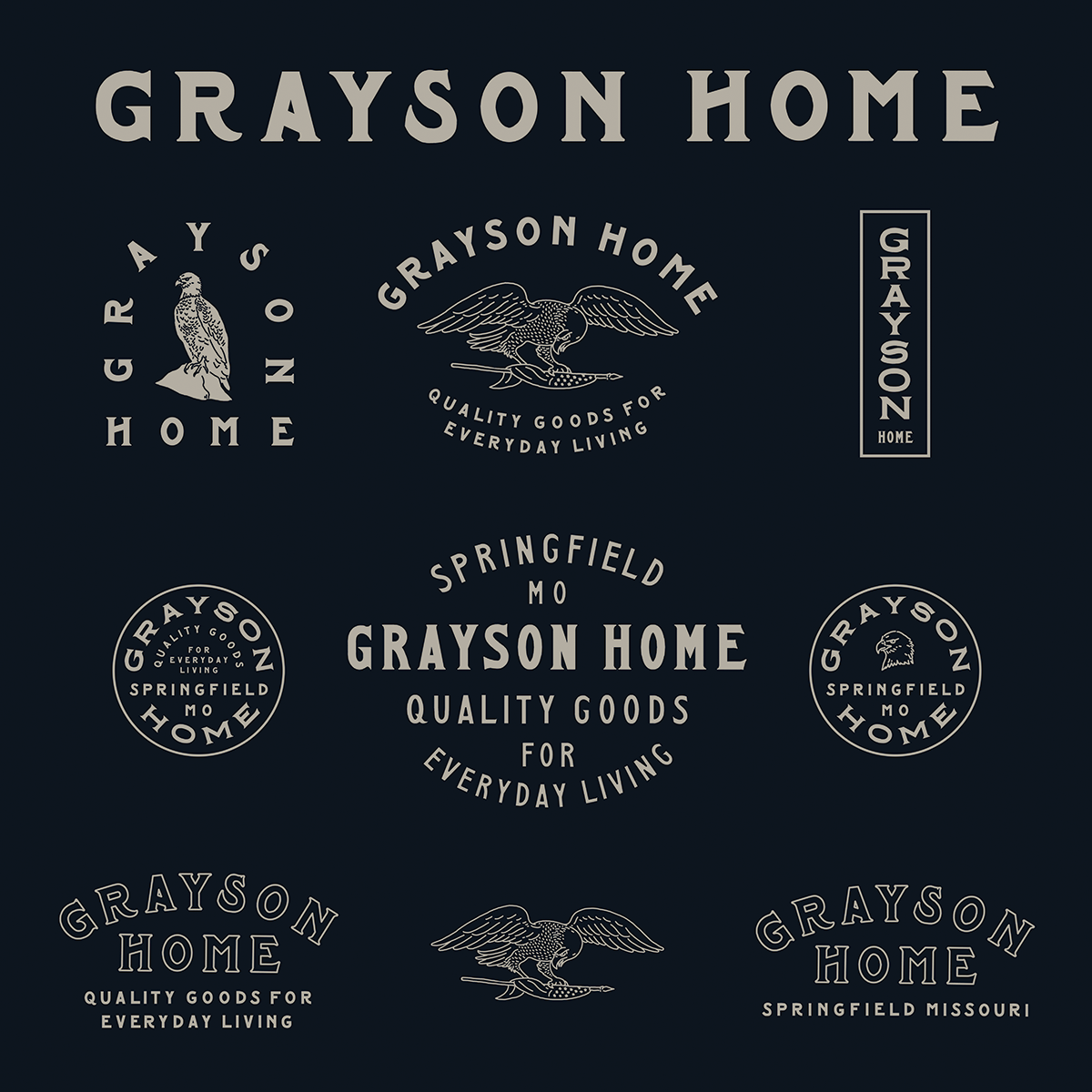 435923cc9 Grayson Home #Logo #Variations #Type | Logos, Branding and Identity ...