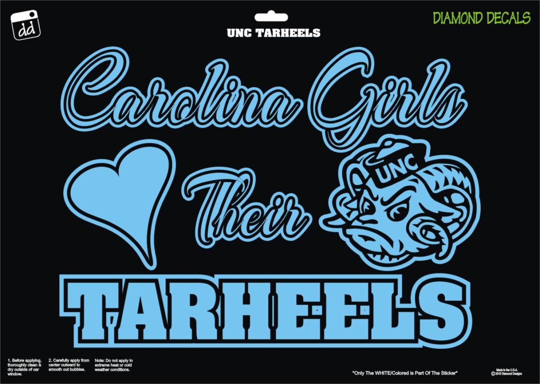 South Carolina Girls Love Tarheels Design Decal Vinyl Sticker Car Truck Window Tar Heels Diamond Decals Unc Tarheels [ 1068 x 1500 Pixel ]