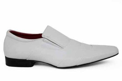 Pointed white shoes for your suite | White Formal shoes for Men ...