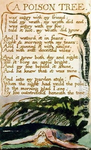 Fruit Of A Poison Tree William Blake William Blake Poems