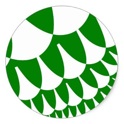 Green white scales large round stickers round stickers