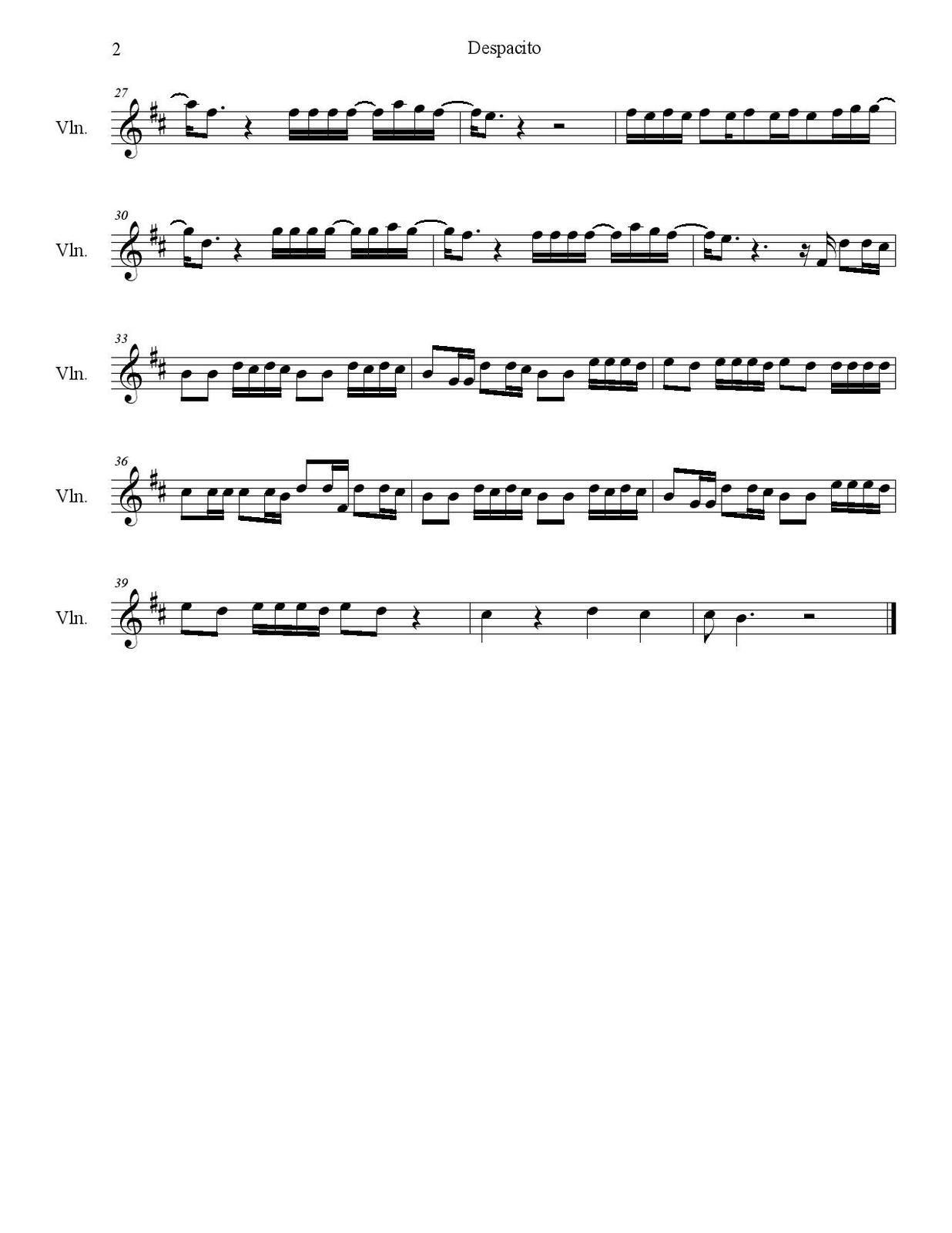 Partitura De La Cancion Despacito Violin Music Piano Music