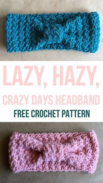Lazy Hazy Crazy Days Headband - Free Crochet Pattern from Kaite\'s ...