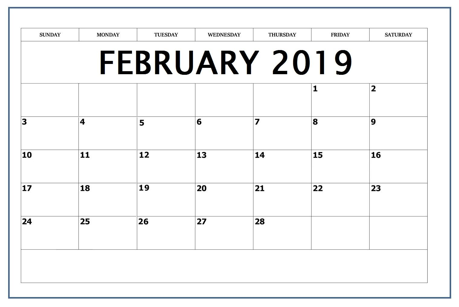 February Calendar Word Page Excel Document With