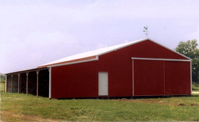 Horse Barn With Lean To Get A Free Custom Estimate