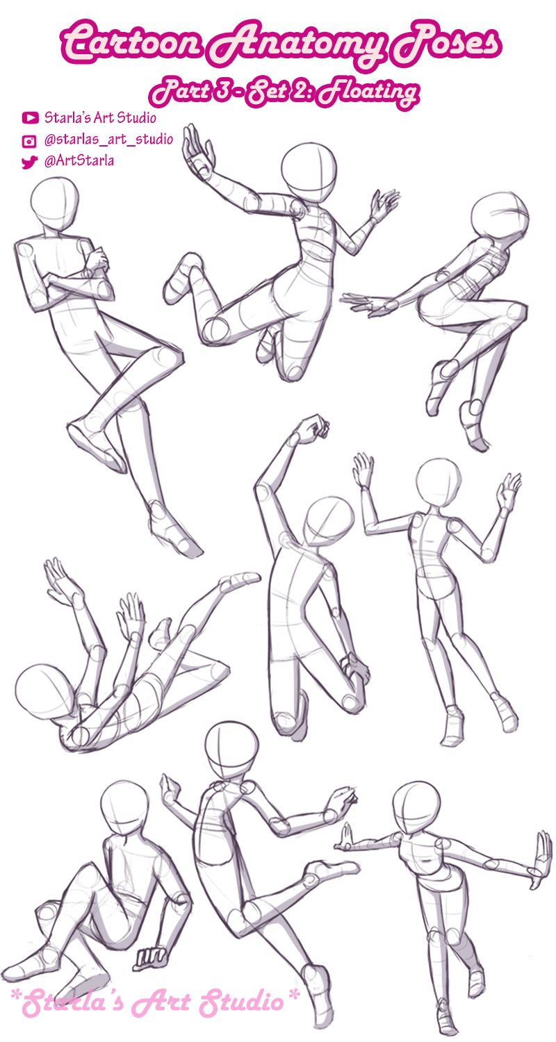 Cartoon Anatomy Poses! Part 3 Tutorial