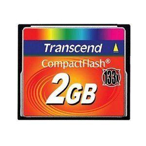 Transcend 2 GB 133x CompactFlash Memory Card TS2GCF133 By 1181 TRANSCEND 2GB Compact Flash With Gigabyte And An