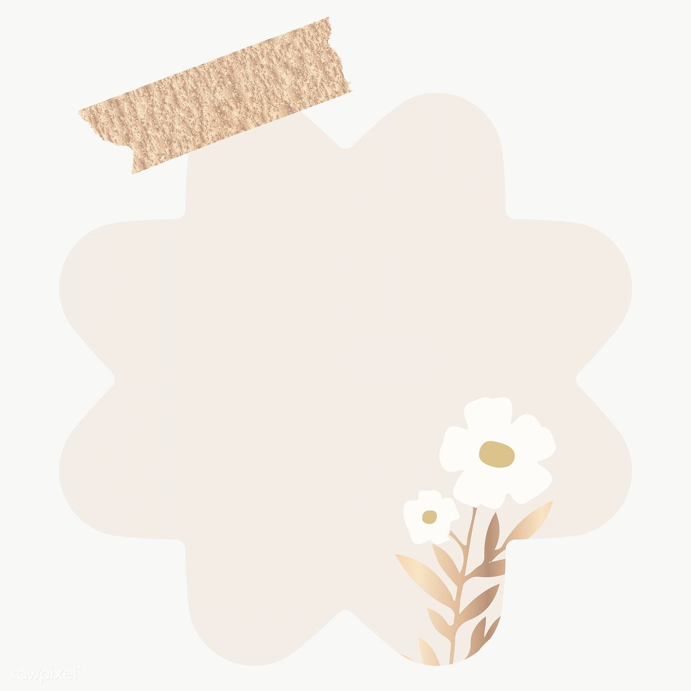 Blank Flower Shape Notepaper Set With Sticky Tape On Transparent Free Image By Rawpixel Com Chayani Paper Background Texture Note Paper Instagram Wallpaper