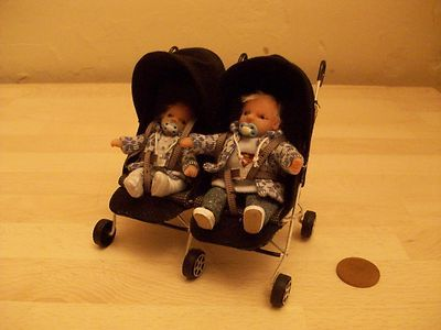 Babyzimmer Leo ~ B ful ooak baby leo brother liam double buggy dolls