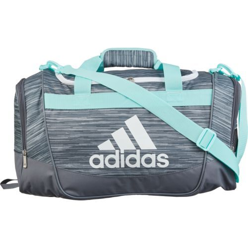 a4e2eaf3e Adidas Defender Duffel Bag Grey/Light Blue 03 - Athletic Sport Bags at  Academy Sports
