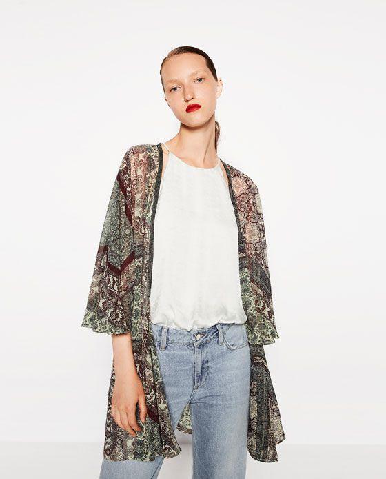 65d2d30d Image 2 of PRINTED KAFTAN from Zara | Clothes | Outerwear women ...