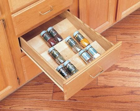 Rev A Shelf 4sdi 24 4sdi Series 22 Wide Spice Drawer Insert For Up To 24 Base Cabinets Natural Wood Rev A Shelf Http Drawer Inserts Rev A Shelf Spice Drawer
